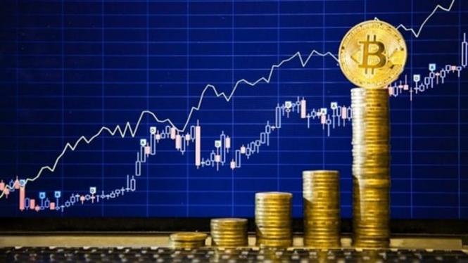 Ilustrasi uang kripto.