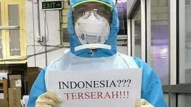 Indonesia terserah ramai di media sosial.