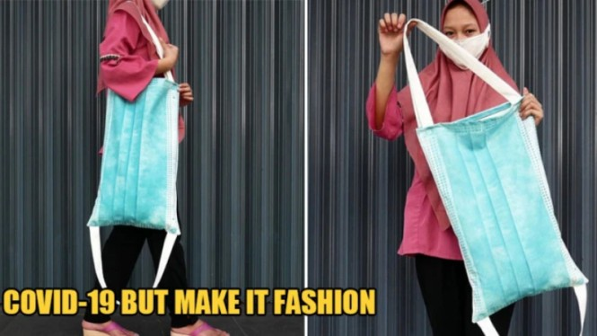 Gaya fashion masa pandemi, tas model masker