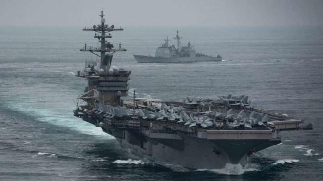 VIVA Militer: Kapal Induk Amerika Serikat (AS), USS Theodore Roosevelt