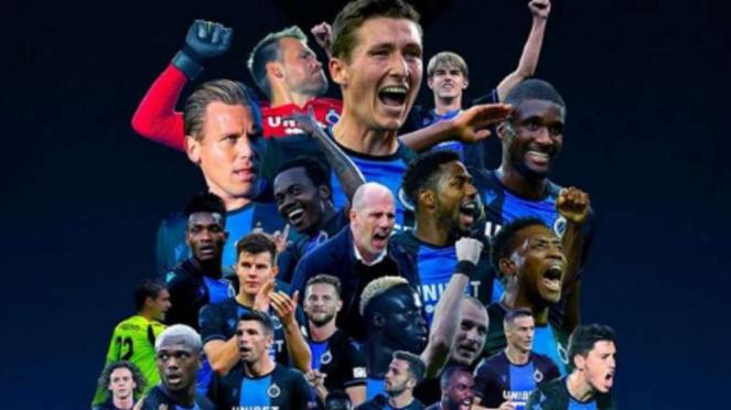 Club Brugge juara Liga Belgia 2019/20.