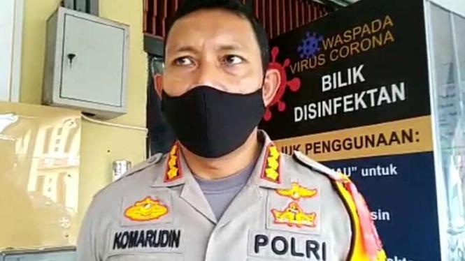Kapolresta Pontianak Kota, Kombes Pol Komarudin.