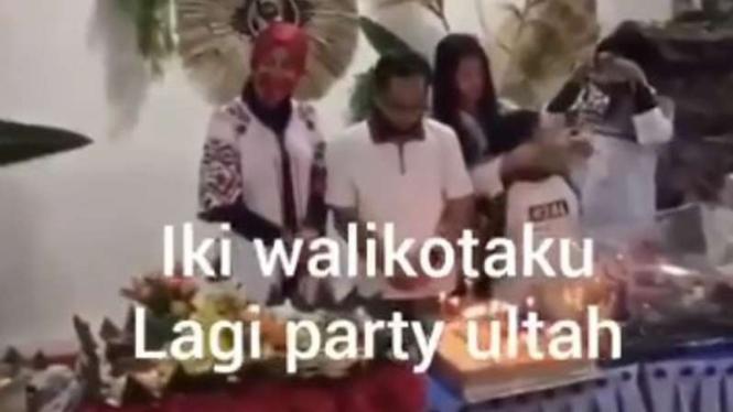 Wali Kota Malang,Sutiaji  rayakan ulang tahun saat pandemi COVID-19.