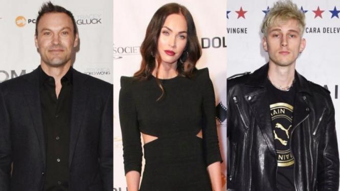Brian Austin Green, Megan Fox dan Machine Gun Kelly.