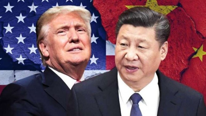 VIVA Militer: Presiden AS, Donald Trump, dan Presiden China, Xi Jinping