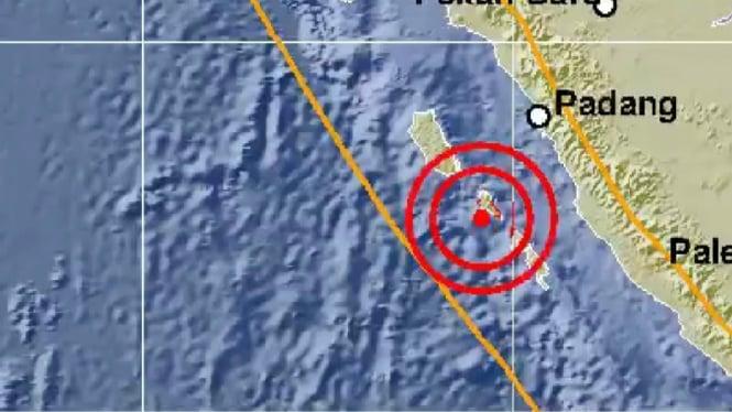 Gempa 5,3 Magnitudo Guncang Mentawai
