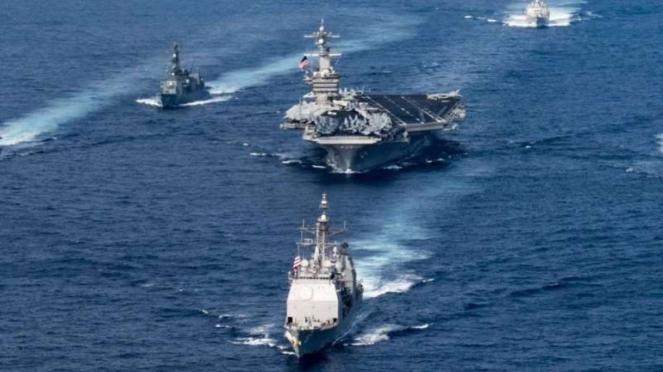 VIVA Militer: Armada Militer Amerika Serikat (AS) di Laut China Selatan