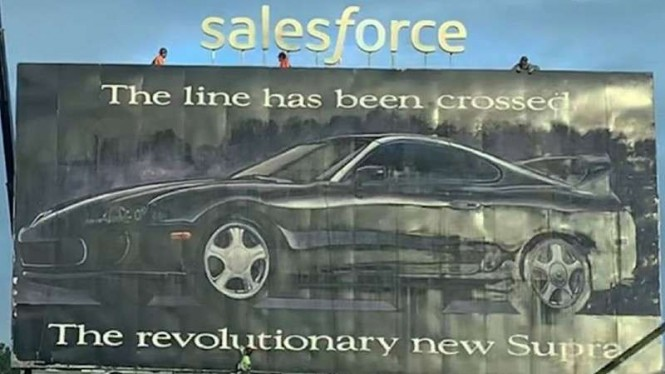 Iklan baliho Toyota Supra 1993.