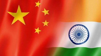 Ilustrasi perseteruan China dan India.