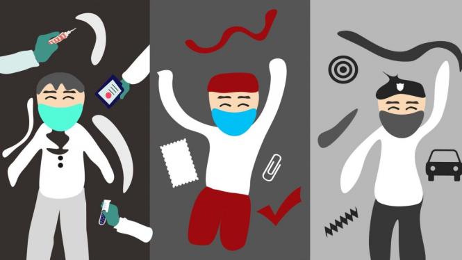 Kehidupan Baru 'New Normal', aktifitas normal dengan mematuhi Protokol Kesehatan. (Illustration: ratunugraheni)