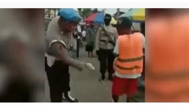 Razia warga tak bermasker di Ambon