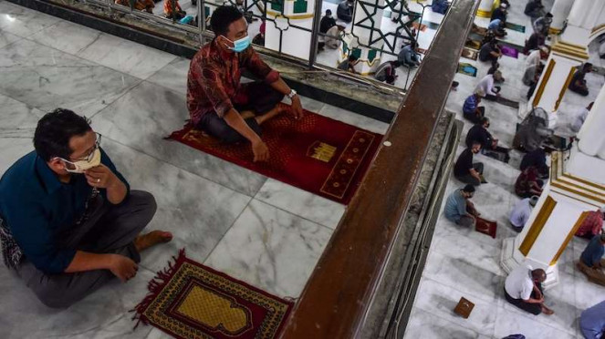 Salat Jumat di Masjid Raya Senapelan Pekanbaru Kota Pekanbaru