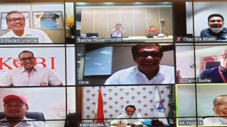 Rapat virtual Ketua KOBI, Anindra Ardiansyah Bakrie dengan Menpora, Zainudin Amali