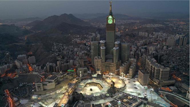 Pemandangan Mekah, Arab Saudi.