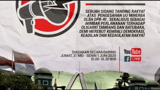 Sidang Rakyat, sidang tandingan DPR RI | Foto credit Jatam.org