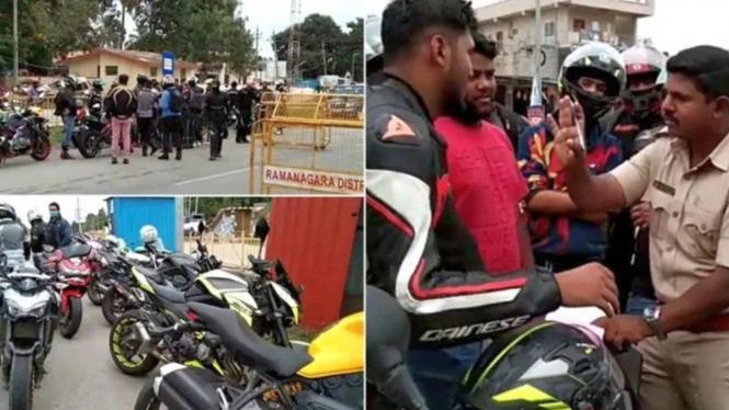 Ratusan pengendara moge diperiksa polisi di India