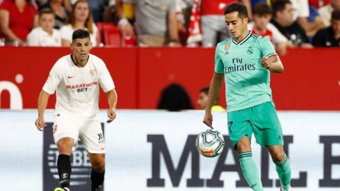 Winger Real Madrid, Lucas Vazquez (kanan)