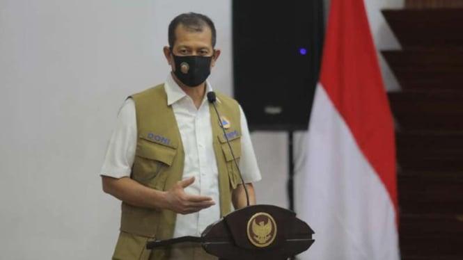 Ketua Gugas Tugas Covid-19 Doni Monardo di Surabaya, Jawa Timur, pada Selasa, 2 Juni 2020.