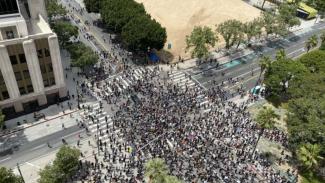 Aksi unjuk rasa yang dipicu tewasnya George Floyd di Los Angeles