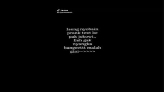 Prank text disebut dibalas Jokowi