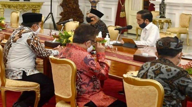 Presiden Jokowi bahas COVID-19 bersama tokoh lintas agama