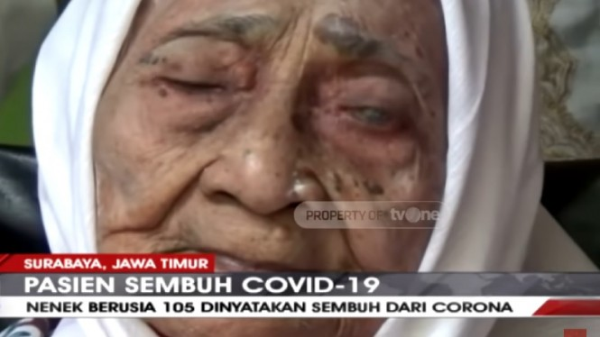 Luar Biasa, Nenek 105 Tahun Sembuh dari Corona