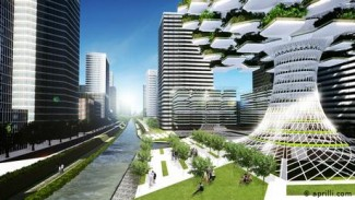 Ilustrasi kota pintar (smart city).