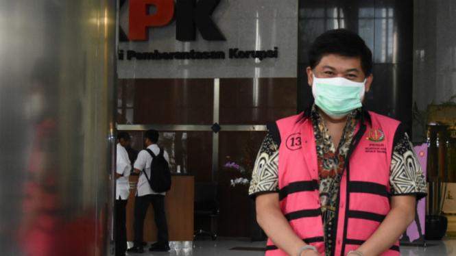 Tersangka kasus Jiwasraya Komisaris Utama PT Trada Alam Minera Tbk (TRAM) Heru Hidayat