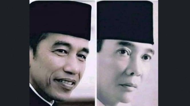Pose Jokowi bersanding dengan Soekarno ramai di Twitter