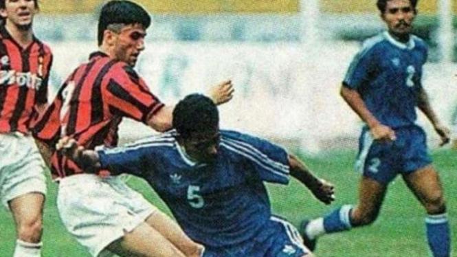 Duel Persib vs AC Milan tahun 1994.