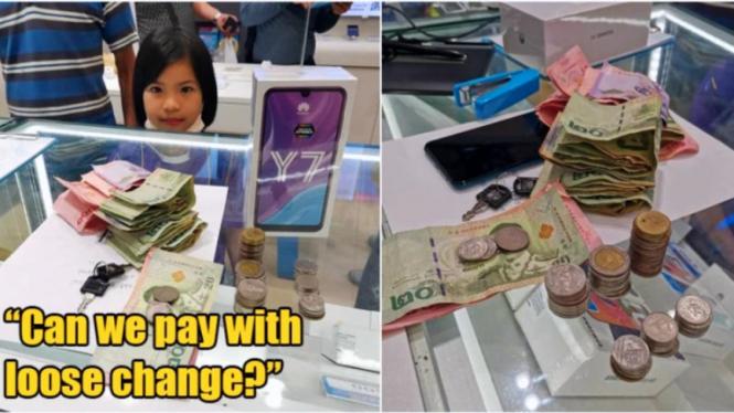 Gadis kecil rela pecahkan celengan demi beli ponsel untuk kerjakan tugas sekolah