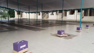 Masjid Agung Tigaraksa Tangerang kembali adakan salat Jumat