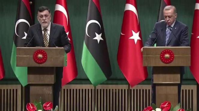 VIVA Militer: Perdana Menteri GNA, Fayez al-Sarra dan Presidem Turki
