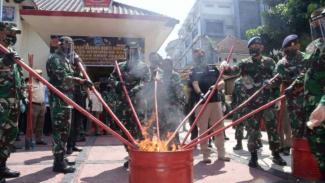 VIVA Militer: Pangdam Siliwangi dan BNN Musnahkan Barang Bukti Narkotika