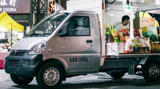 Mobil baru Wuling yang dipasarkan di China