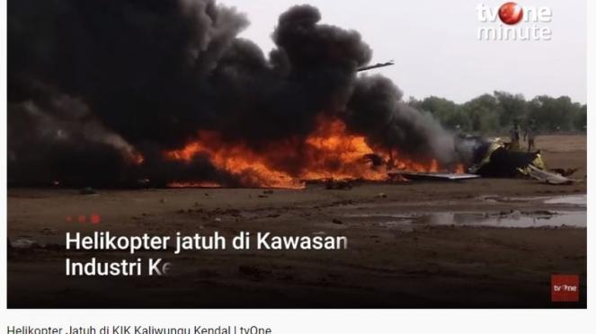 Helikopter TNI jatuh di Kendal