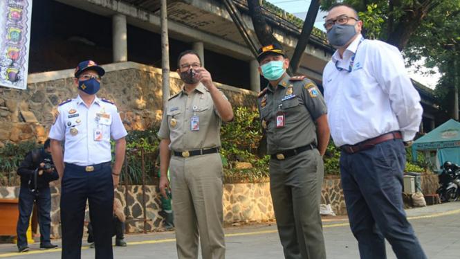 Gubernur DKI Jakarta Anies Baswedan di Dukuh Atas. (Foto ilustrasi)