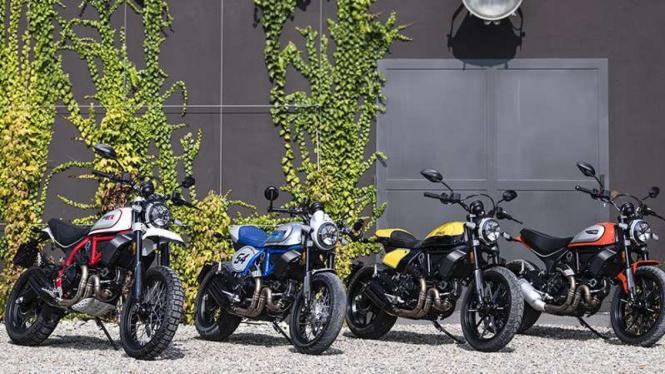 Jajaran produk sepeda motor Ducati Scrambler
