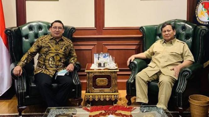 Politisi Gerindra, Fadli Zon temui Menhan, Prabowo Subianto.