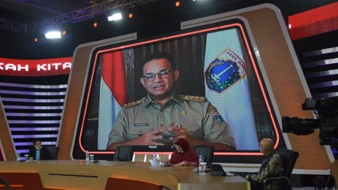 Gubernur DKI Jakarta Anies Baswedan di acara ILC tvOne, Selasa, 9 Juni 2020