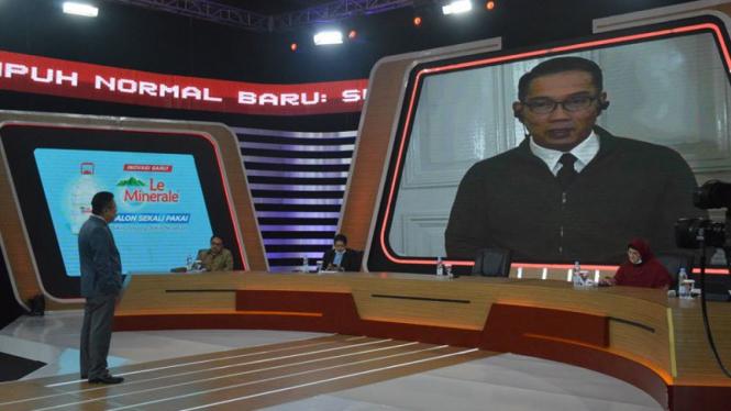 Gubernur Jawa Barat Ridwan Kamil di acara ILC tvOne, Selasa, 9 Juni 2020