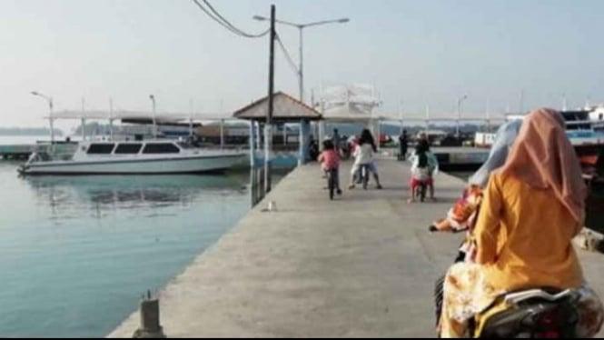 Gambar Dermaga Pulau Harapan
