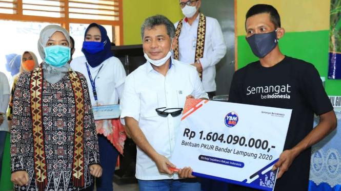 Bantuan PKUR Bandar Lampung 2020 oleh Direktur Utama Bank BRI Sunarso
