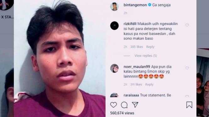 Komika Bintang Emon sindir pelaku penyiram air keras Novel Baswedan