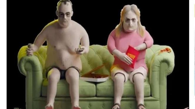 Model 3D manusia pecandu Netflix selama 20 tahun.