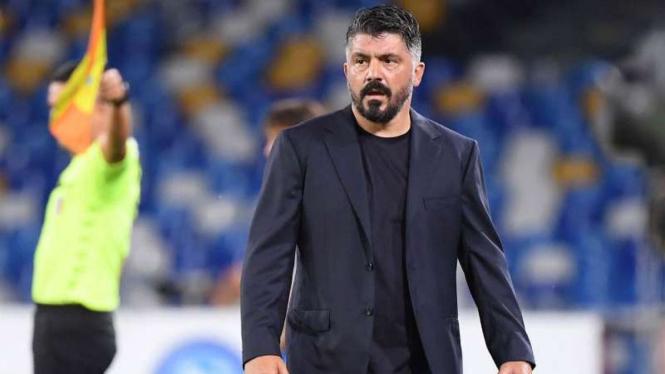 Gennaro Gattuso saat menjadi pelatih Napoli.