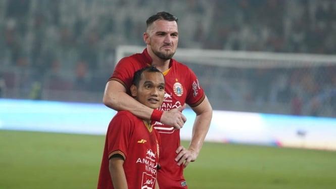 Pemain andalan Persija Jakarta, Marko Simic dan Riko Simanjuntak