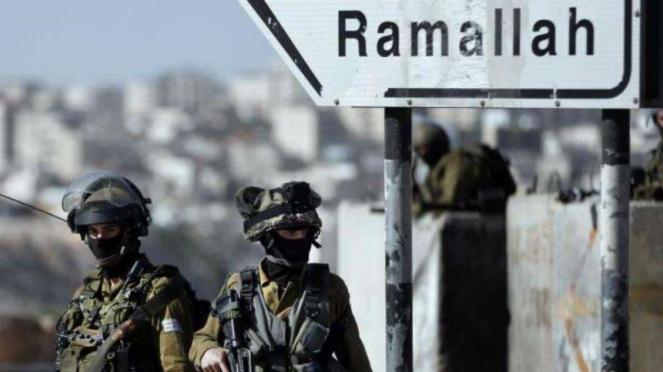 VIVA Militer: Tentara Pertahanan Israel (IDF) di Ramallah, Tepi Barat, Palestina