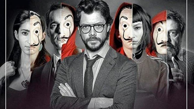 Money Heist atau La Casa de Papel.