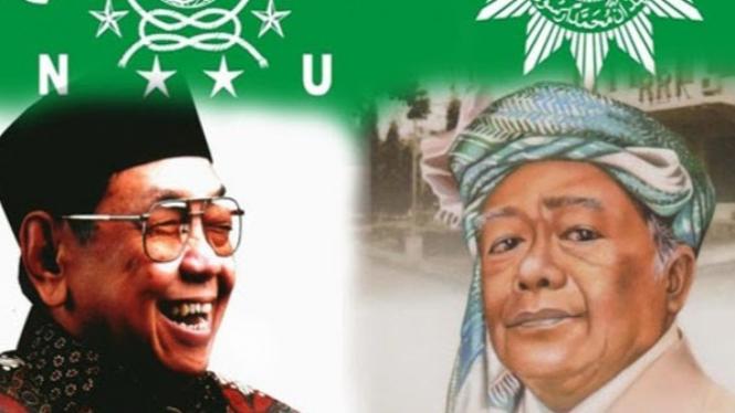Gus Dur dan Pak AR (Twitter/@andimahfu_ri)